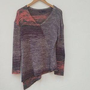 prAna Vignette Sweater Top Purple Tart Asymmetric